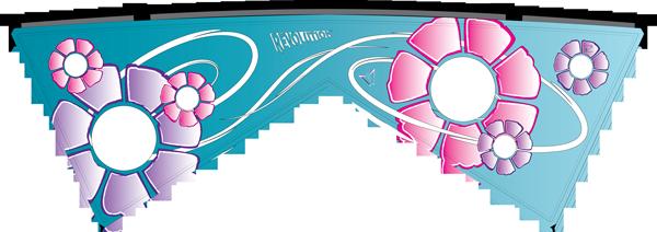 Flower Power - Blue Sail, Pink & Purple
