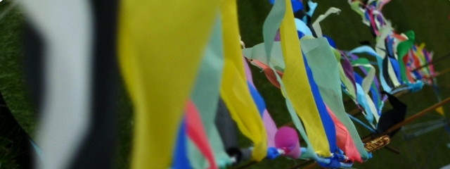 Fluttering summer banner