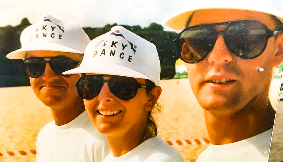 Head and shoulders shot of 1996 Sport Kite World Cup Winners Sky Dance